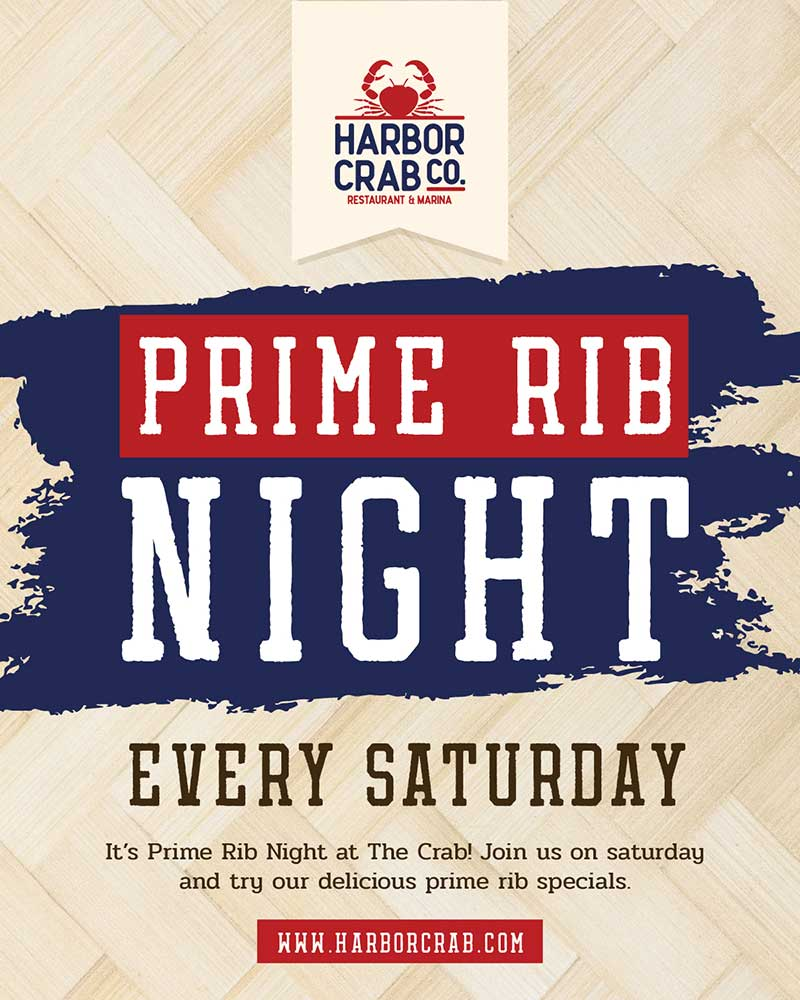 Saturday: Prime Rib Night