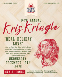 Flyer for 14th Annual Kris Kringle Event