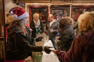 Photos of people enjoying drinks as they raise money for charity.