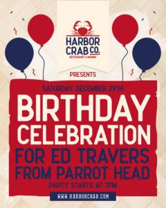 Birthday celebration for Ed Travers flyer