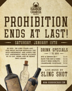 Prohibition Ends at Last flyer.