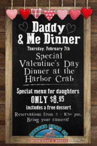 Daddy & Me Dinner Flyer, Thursday, February 7th