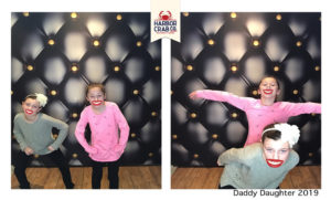 A photo of two kids posing for the Daddy Daughter 2019 event.