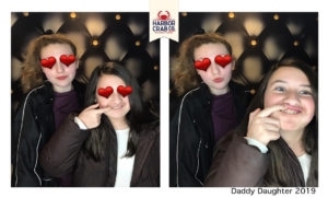 A photo of two girls posing for the Daddy Daughter 2019 event.
