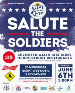 Flyer for Salute the Soldiers on June 6th at 5:00pm