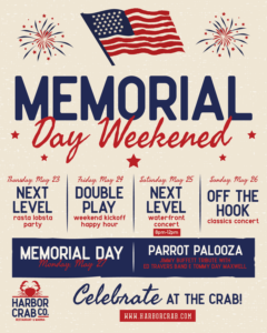 Flyer for Memorial Day Weekend