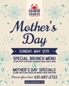 Flyer for Mother's Day featuring brunch and dinner specials