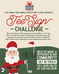 Tee Sign Challenge flyer.