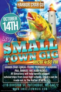 Small Town Gig flyer for October 14th at 4:30 PM