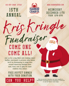 Kris Kringle Fundraiser on December 11th, 2019