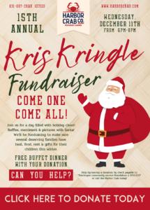 Kris Kringle Fundraiser on December 11th, 2019