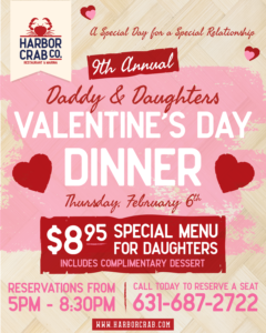 Flyer for Daddy & Daughter Valentine's Day Dinner
