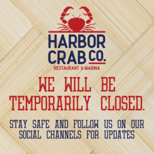 Flyer that reads: We will be temporarily closed. Stay safe and follow us on our social channels for updates