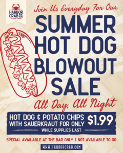 1.99 Hot Dog Sale Everyday